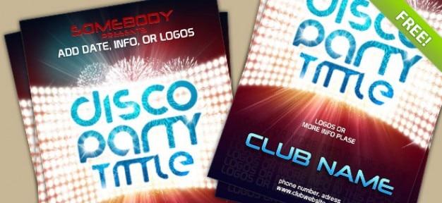 Calibre d'affiche du psd pour l'événement du club