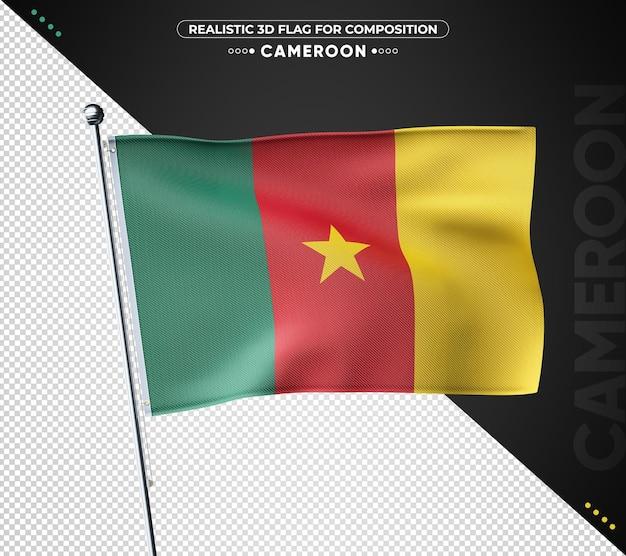 Cameroun drapeau texturé 3d pour la composition