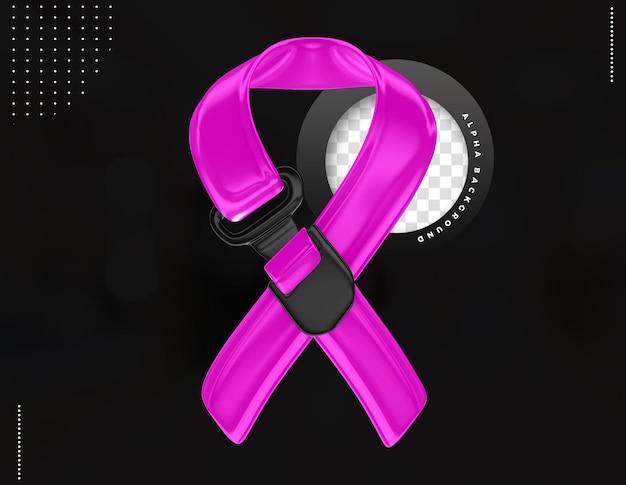 Campagne de prévention cravate 3d en rose