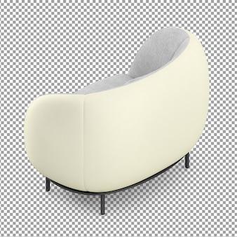 Canapé blanc isométrique