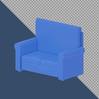 Canapé double 3d isométrique