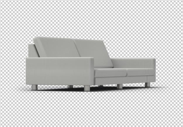 Canapé gris isolé