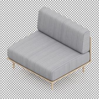 Canapé gris isométrique