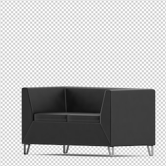 Canapé isométrique