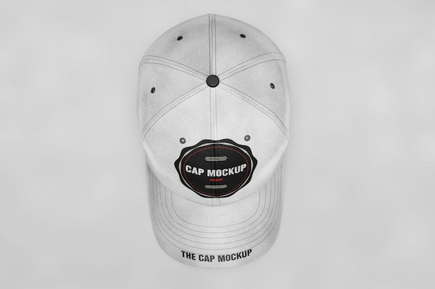 Cap mock up top view