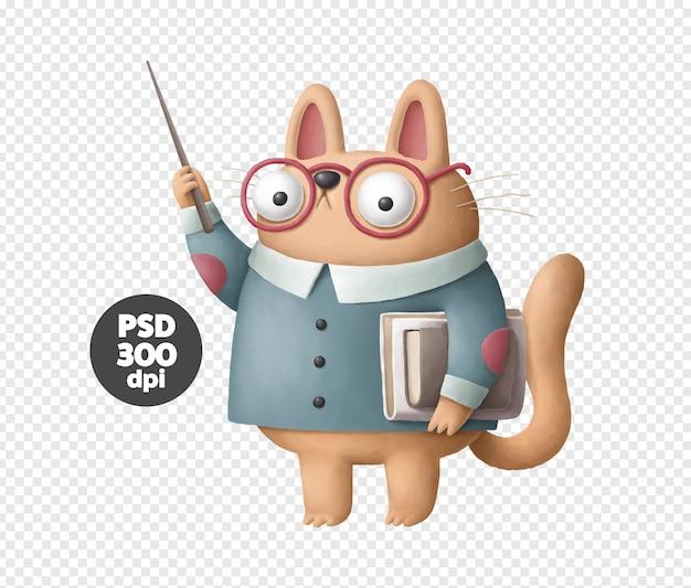 Caractère de professeur de chat