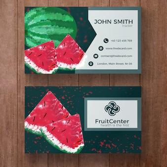 Carte d'affaires avec watermelone