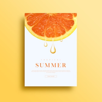 Carte ou bannière d'été