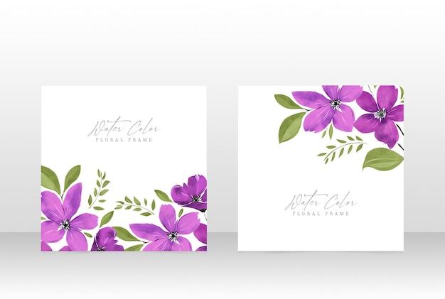 Carte de cadre botanique d'invitation de mariage féminin floral