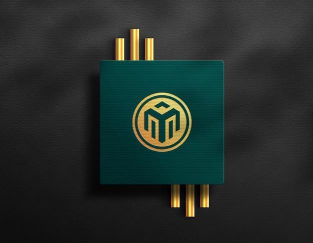 Carte carte logo maquette luxe effet doré