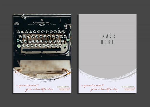 Carte créative avec un beau design de photographie