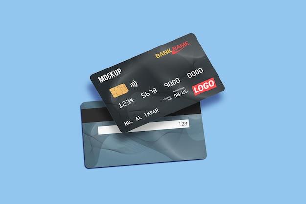 Carte de débit carte à puce maquette de carte en plastique recto et verso