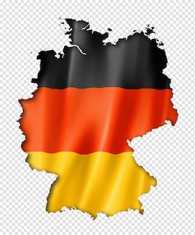 Carte du drapeau allemand