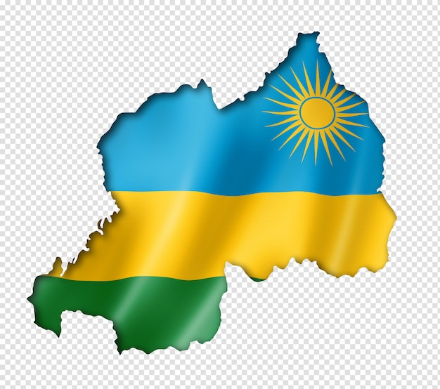 Carte du drapeau du rwanda