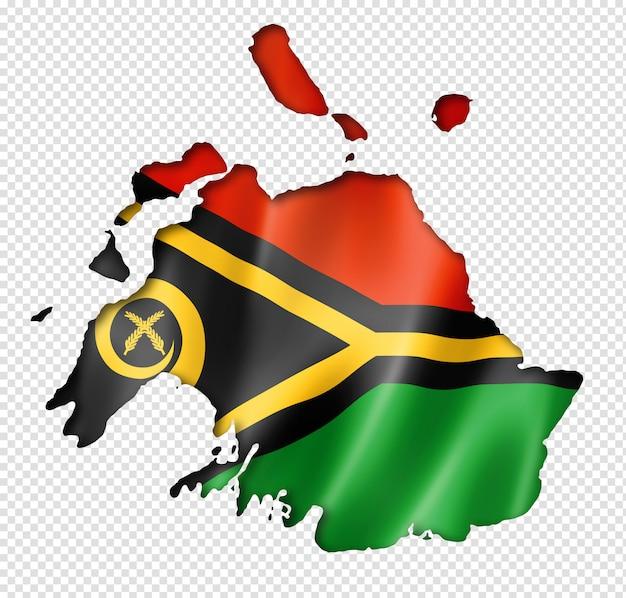 Carte du drapeau du vanuatu