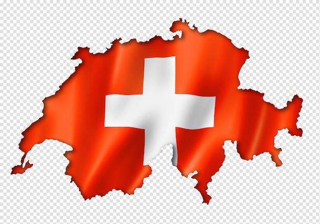 Carte du drapeau suisse