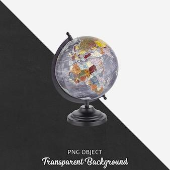 Carte du monde sur transparent