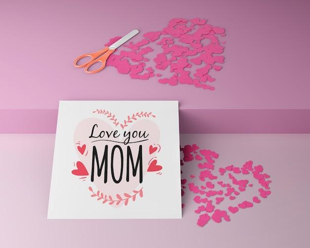 Carte de fête des mères avec maquette