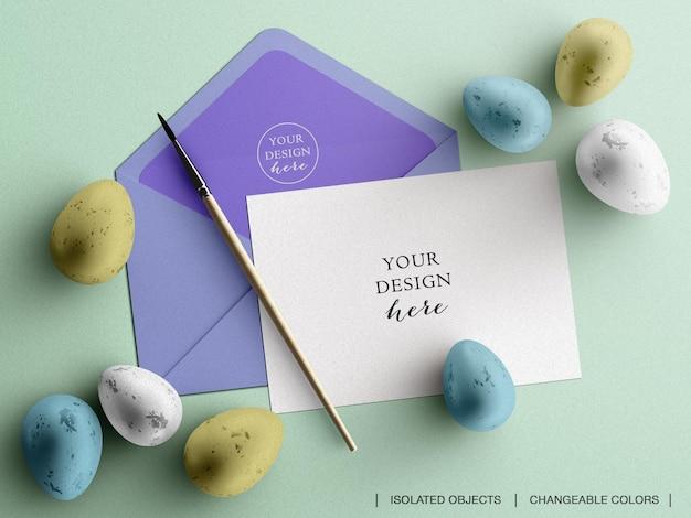 Carte de photo de flyer d'invitation de voeux de vacances et maquette d'enveloppe