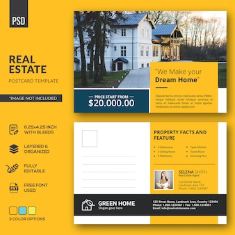 Carte postale immobilière