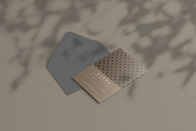 Carte postale ou maquette de carte d'invitation avec coins plats