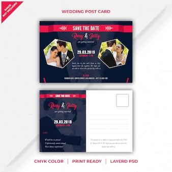 Carte postale de mariage