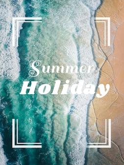 Carte de vacances d'été