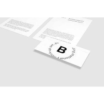 Carte de visite à côté de la brochure maquette