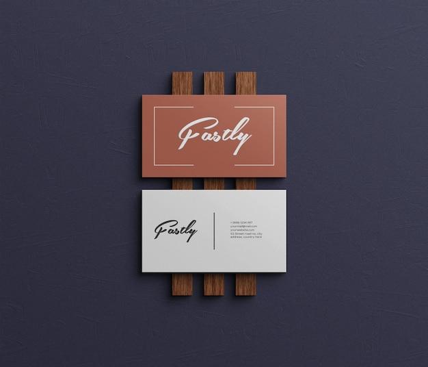 Carte de visite élégante et moderne avec texture bois