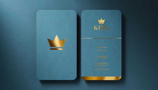 Carte de visite de maquette de logo de luxe