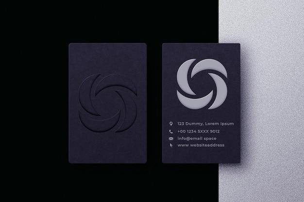 Carte de visite minimaliste avec maquette de logo premium psd