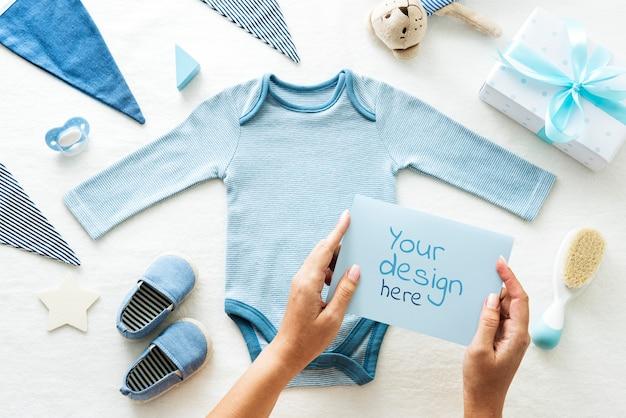 Carte de voeux bébé garçon