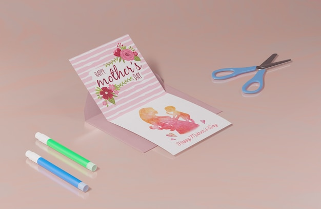 Carte de voeux de fête des mères gros plan