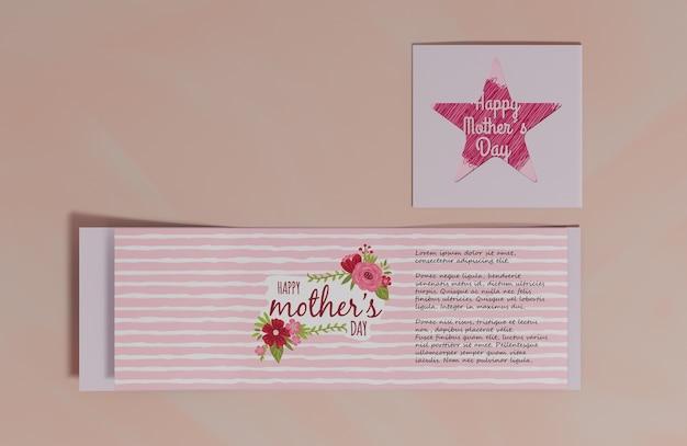 Carte de voeux fête des mères vue de dessus