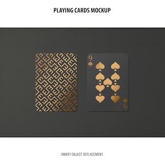 Cartes à jouer avec maquette de feuille d'or