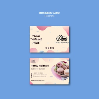 Cartes de visite avec macarons