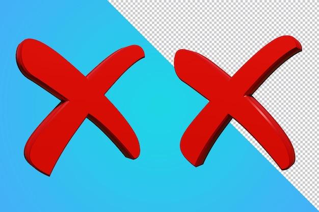 Case à cocher fausse icône 3d isolé