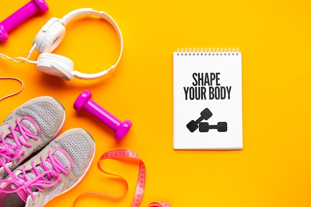 Casque et équipement de fitness pour la classe