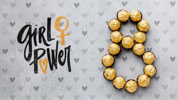 Célébration de l'événement girl power