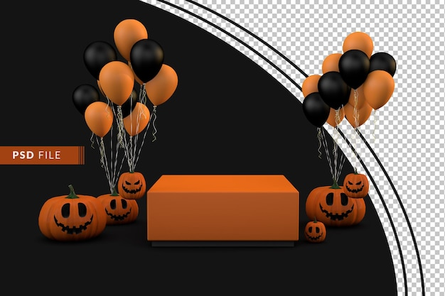 Célébration sombre du podium halloween 3d