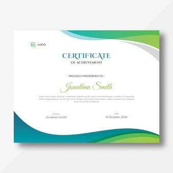 Certificat de vagues colorées