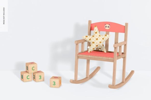 Chaise à bascule pour enfants avec maquette d'oreiller en étoile
