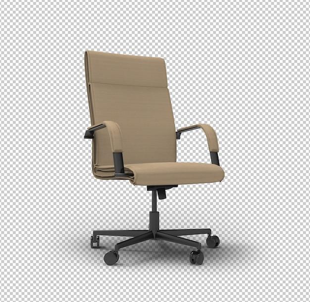 Chaise de bureau 3d. mur transparent. vue latérale.