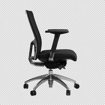 Chaise de bureau sur fond blanc