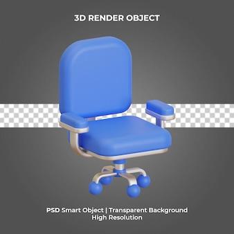 Chaise de bureau rendu 3d isolé premium psd