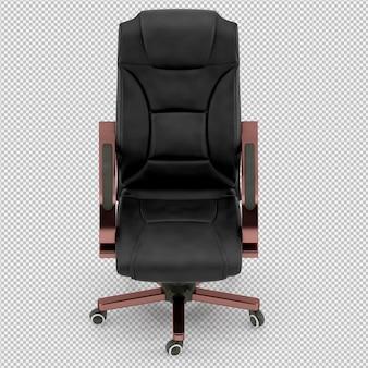 Chaise de bureau rendu 3d isolé