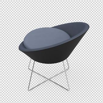 Chaise de café isométrique