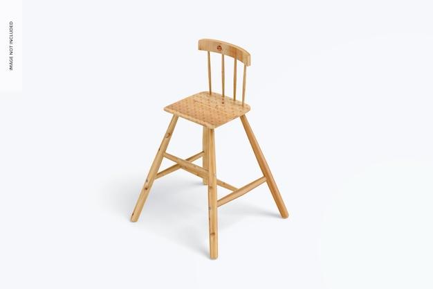 Chaise haute en bois pour maquette d'enfants