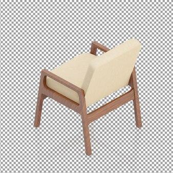 Chaise isométrique en bois beige