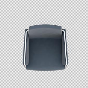 Chaise isométrique rendu 3d